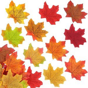 Artificial Autumn Maple Leaves | Assorted Colors